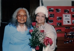 Aunt Estella Martin Walker (Deceased) and Johnnie Mae Terrell (Deceased) - 1986 Family Reunion in Los Angeles, Californi