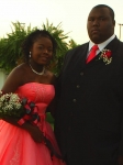 Karri Baylis, daughter of Evon  05-06 9th Grade Homecoming Maid.  Escorted by brother, LePatric